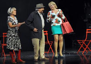 Photo: WIEN/ Kammerspiele: CHUZPE von Lily Brett. Premiere am 22.11.2012. Inszenierung: Dieter Berner. Gabriele Schuchter, Otto Schenk, Grazyna Dylag.  Foto: Barbara Zeininger.