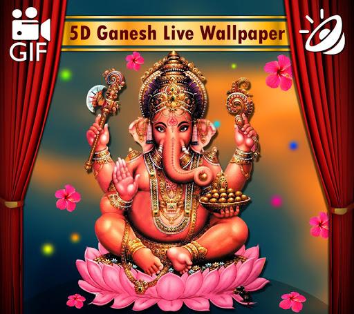 5D Ganesh Live Wallpaper - Lord Ganesh, Hindu gods 1.0.3 screenshots 9
