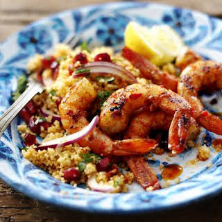 Piri-piri Prawns And Harissa Couscous.