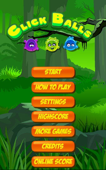 Click Balls- screenshot
