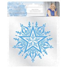 Sara Signature Collection Winter Wonderland 6x6 Embossing Folder - Snow Crystal