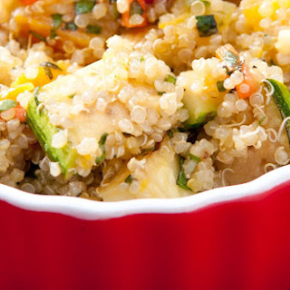 Simple Quinoa and Vegetables.