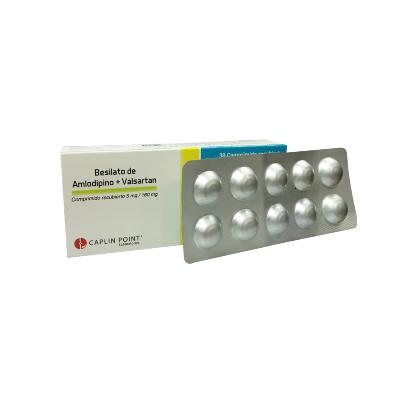 Amlodipina + Valsartan Caplin Point 5/160mg x 30 Comprimidos