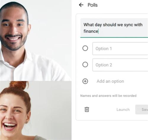 Polling in Google Meet