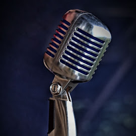 Sing For Me by Marco Bertamé - Artistic Objects Other Objects ( microphone, metal, silver,  )