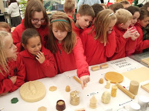 Photo: Schoolchildren from Hardy Memorial Primary School are intrigued with the display.