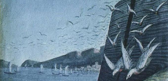 Yazep Drozdovich. In the coastal cliffs. Fragment.