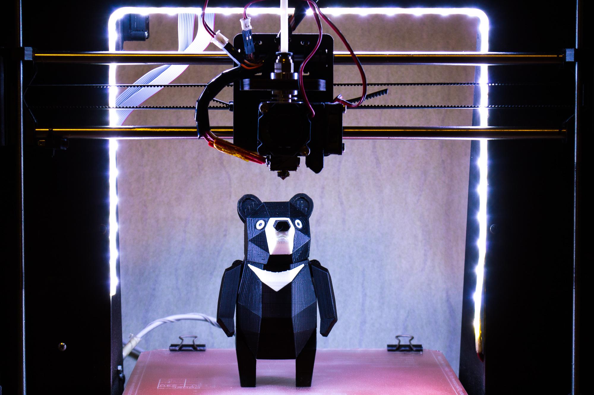 Ведмідь надрукований на 3d принтері