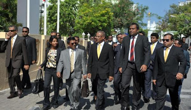 Photo: MDP MPs Walking Back