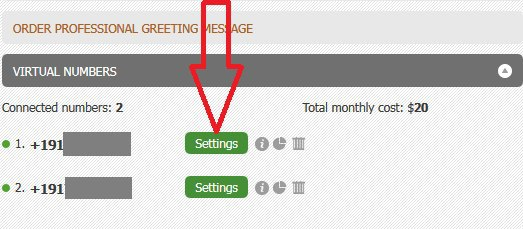 Zoiper number forwarding settings