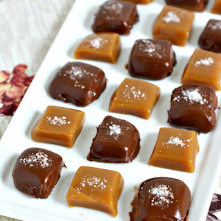 Golden Vanilla Bean Caramels with Himalayan Pink Salt