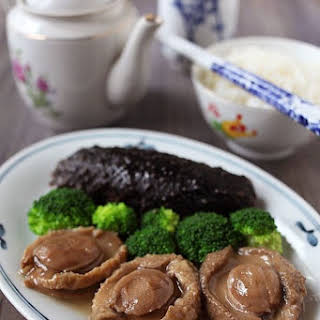 Braised Abalone with Sea Cucumber.