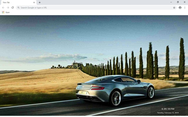 Aston Martin DB9 New Tab Theme