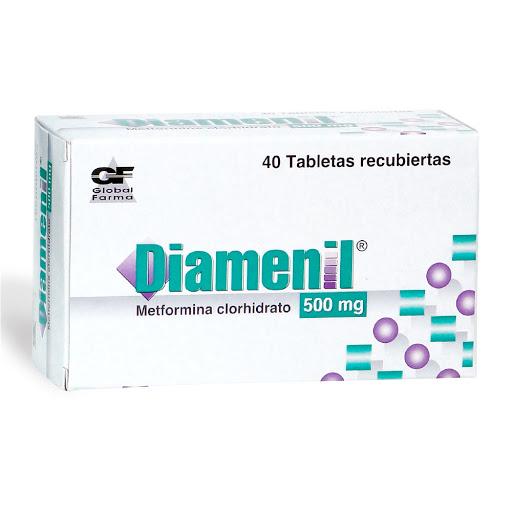 Metformina Diamenil 500 mg x 40 Tabletas