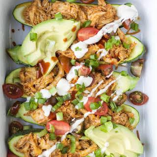 BBQ Chicken Zucchini Boats.
