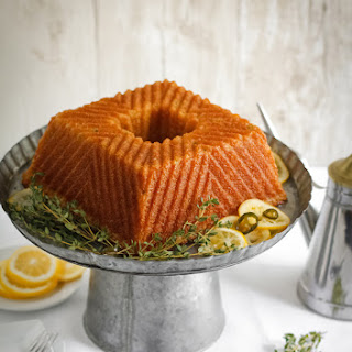 Olive Oil Jalapeno Cornmeal Cake with Candied Citrus