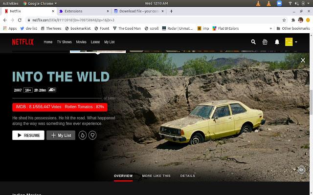 RateFlix: IMDb and RT ratings on Netflix