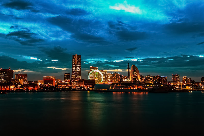 Photo: Yokohama Skyline - view from Osanbashi Pier