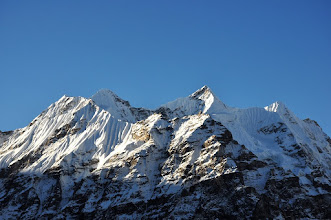 Photo: Au départ de Lhonak (Mera peak)