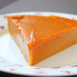 Crustless Carrot Pie.
