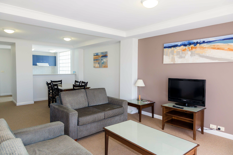 Simplistic living area in Quest Newcastle