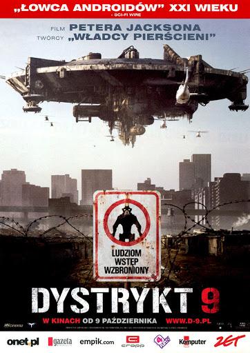 Przód ulotki filmu 'Dystrykt 9'