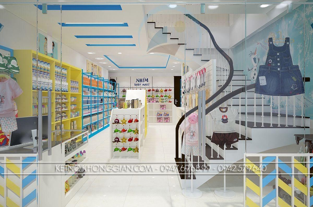thiết kế siêu thị mẹ và bé hoàn hảo