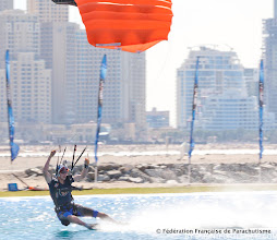 Photo: 3rd Dubai International Parachuting Championship 2011, Julien Guiho, Canopy Piloting, FreeStyle , photo Laurent Stéphane Montfort