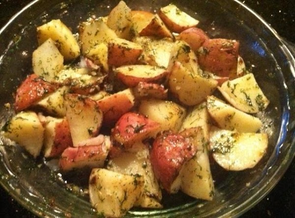 IN A SMALL MICROWAVE SAFE BOWL NUKE BUTTER N OLIVE OIL N GARLIC FOR...