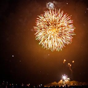 A Night With Fireworks by Mauricio Alas - City,  Street & Park  City Parks