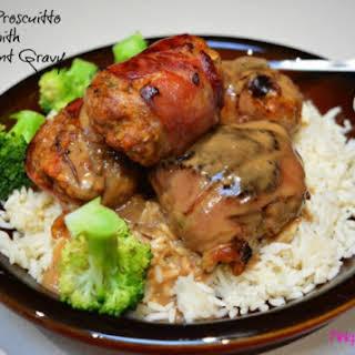 Beef & Prosciutto Rissoles with Redcurrant Gravy.