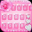 Pink Diamond Rose Keyboard Theme icon