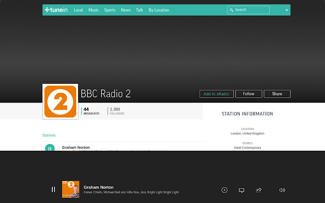 eRadio Web Extension