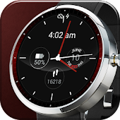 Red Lava Analog Watch Face