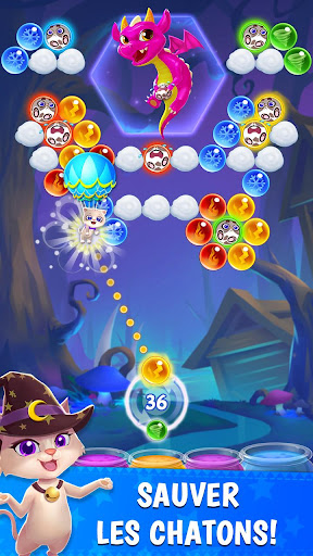 Bubble & Dragon - Magical Bubble Shooter Puzzle !  captures d'u00e9cran 2