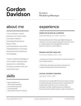 Gordon N. Davidson - Resume item
