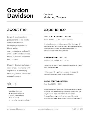 Gordon N. Davidson - Resume Template