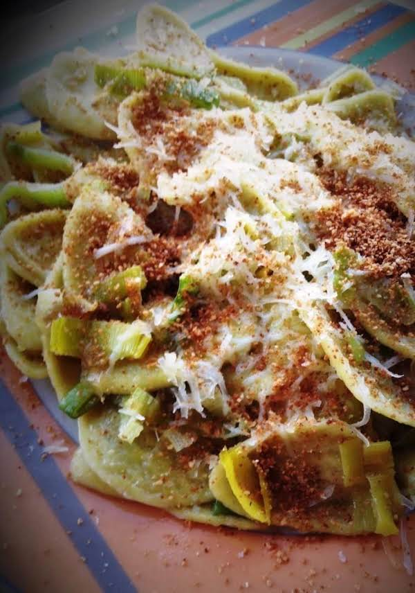 Artichoke Leaf Pasta With Leek 'carbonara' Recipe