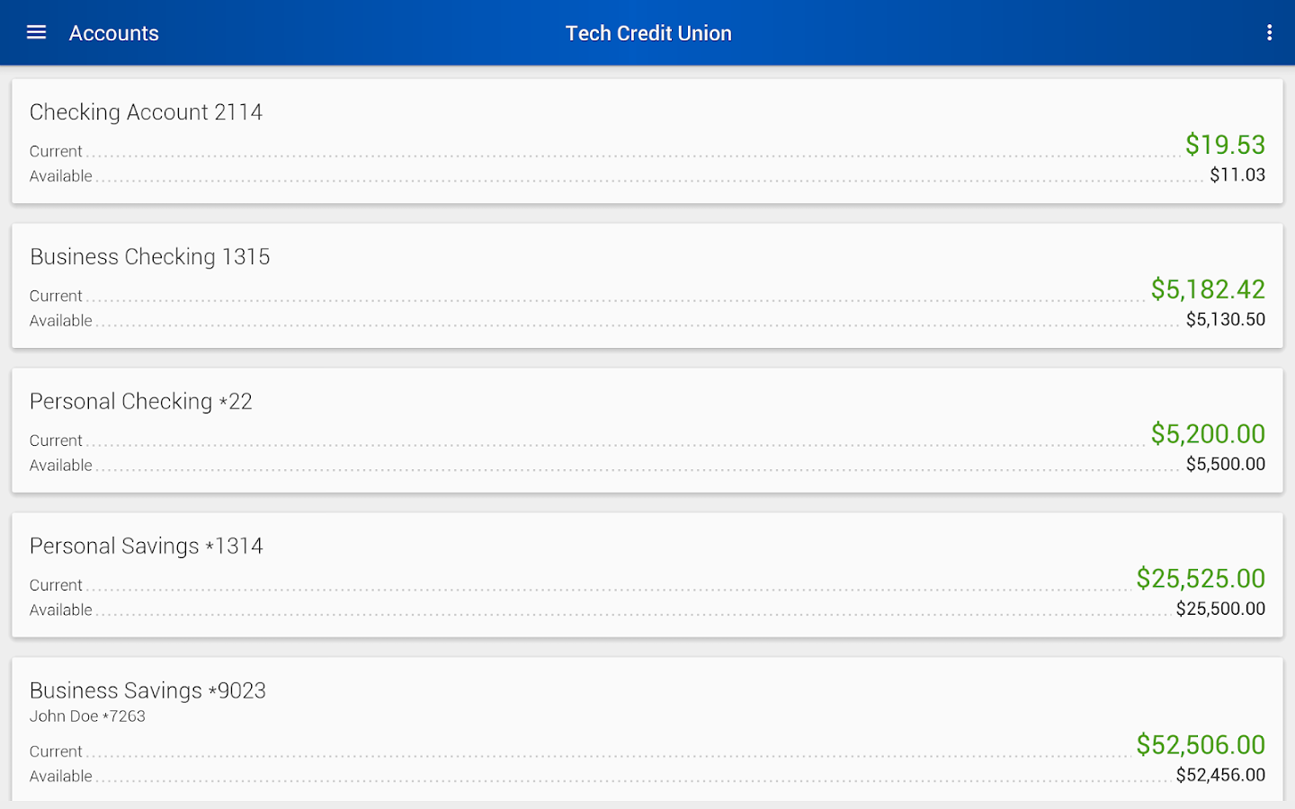 Tech Credit Union Mobile- screenshot