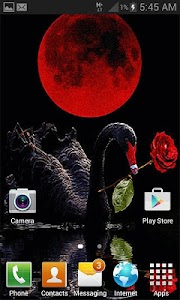 Red Rose Swan LWP screenshot 2