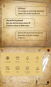 TouchPal Calligraphy Theme screenshot 1