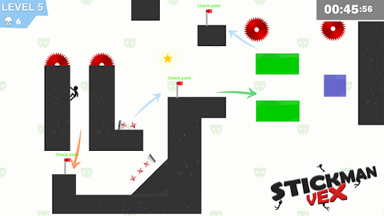 Stickman Impaled:Stick Parkour Platformer 8