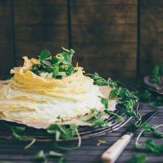 Sweet Pea Lemon Crepe Cake