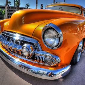 Orange  Chevy by Stephen Botel - Transportation Automobiles ( car, hdr, street, car show, phoenix, chevy, classic )