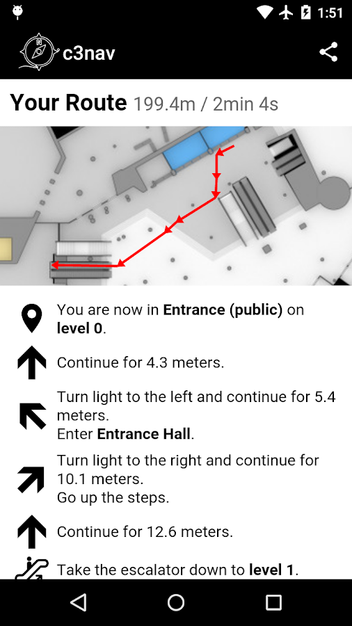 c3nav – 33c3 indoor navigation- screenshot