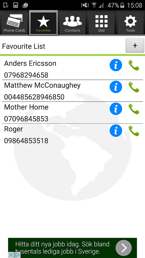 Phone Card Dialer- screenshot