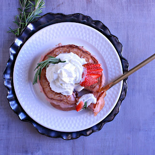 Strawberry Pancakes for Valentine's Brunch