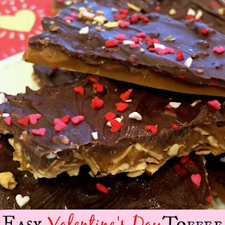 Easy Valentines Day Toffee