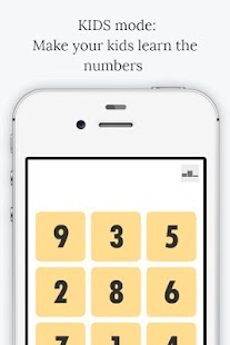 Tap the numbers in order - náhled