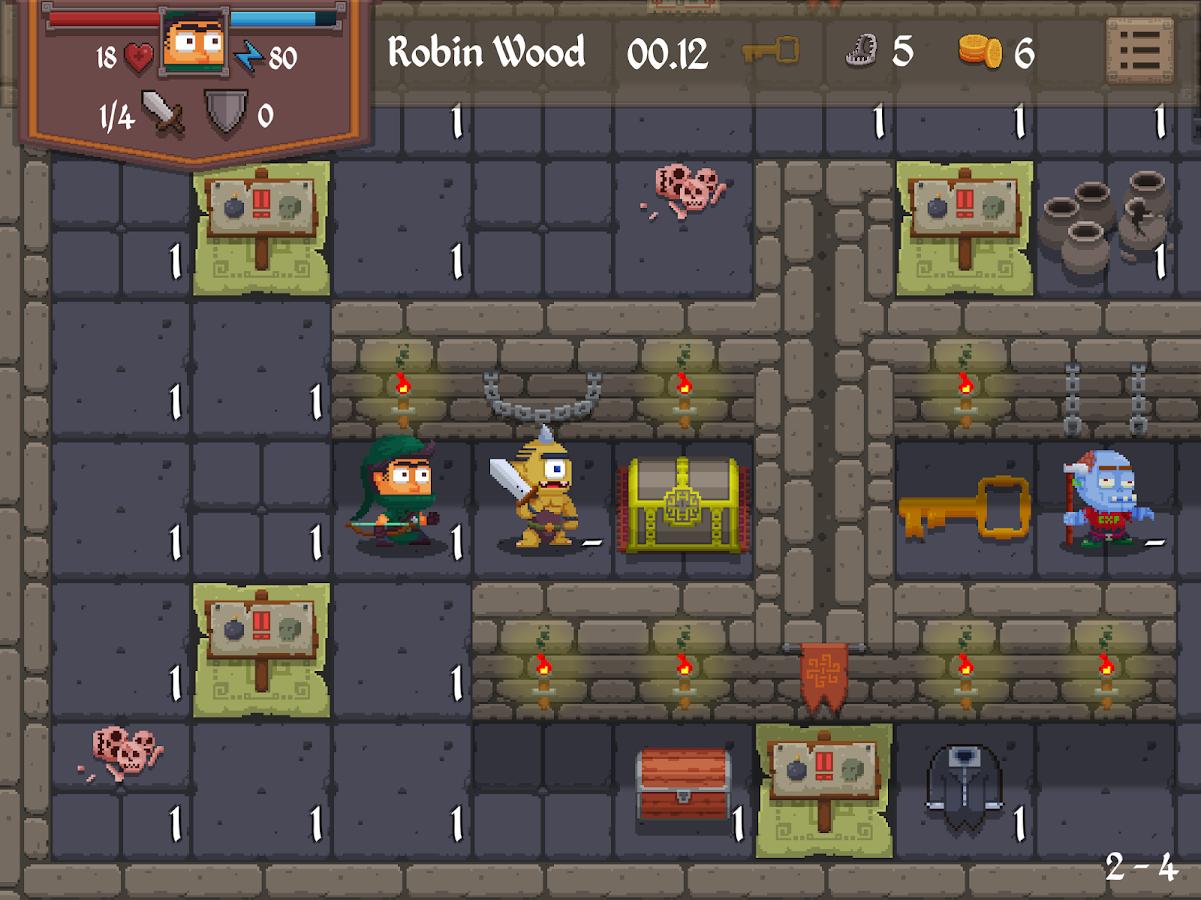 Dungeon Park Heroes – snímek obrazovky